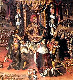 The presentation of the Augsburg Confession.