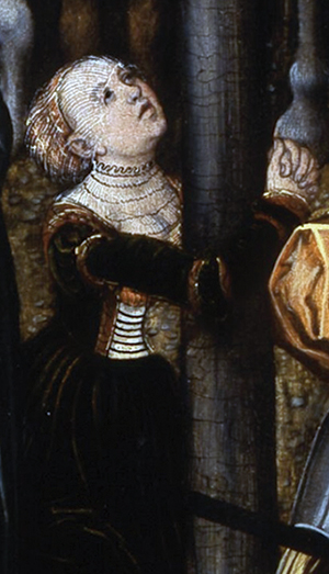 No images of Ursula von Münsterberg are known to exist. This painting, by Lucas Cranach the Elder, represents Mary Magdalene. Ursula was a member of a monastic community called the Order of Mary Magdalene the Penitent.