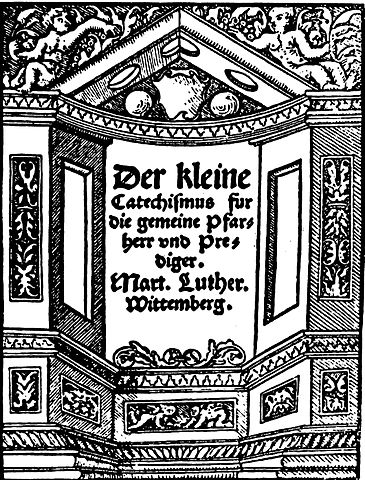 The title page from the 1529 edition of Martin Luther's Small Catechism.